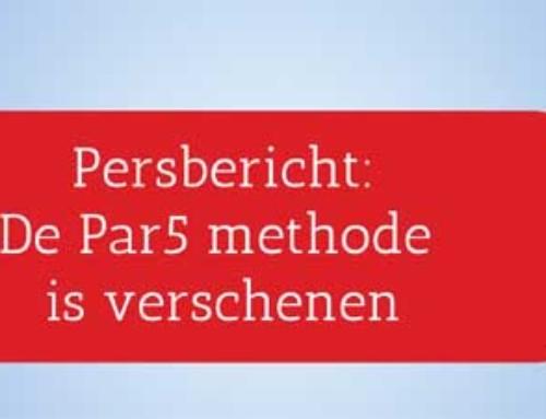 Persbericht – Het boek de Par5 methode is verschenen